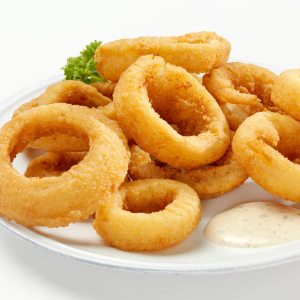 Thick Cut Onion Rings with Dip-Photographed on Hasselblad H3D2-39mb Camera